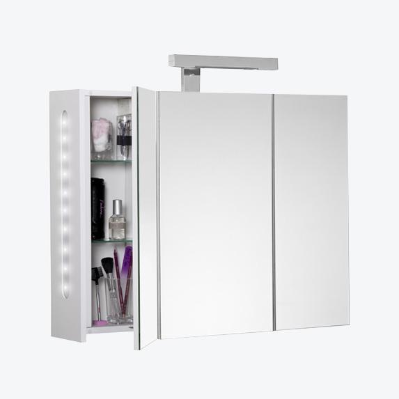 Armoire de toilette miroir de salle de bain luminaires - Armoire salle de bain miroir eclairage ...