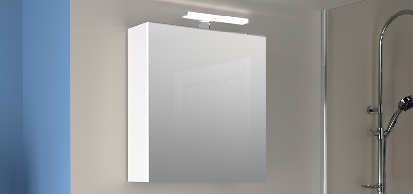 Armoire De Toilette Avec Prise Et Interrupteur.Armoire De Toilette Melodia Aquarine