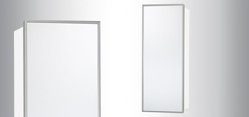 armoire de toilette lumineuse telio sensea 80x75x15 cm. Black Bedroom Furniture Sets. Home Design Ideas