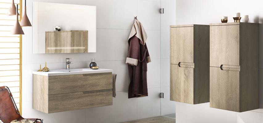 meuble de salle de bain sans poign e matrice aquarine. Black Bedroom Furniture Sets. Home Design Ideas