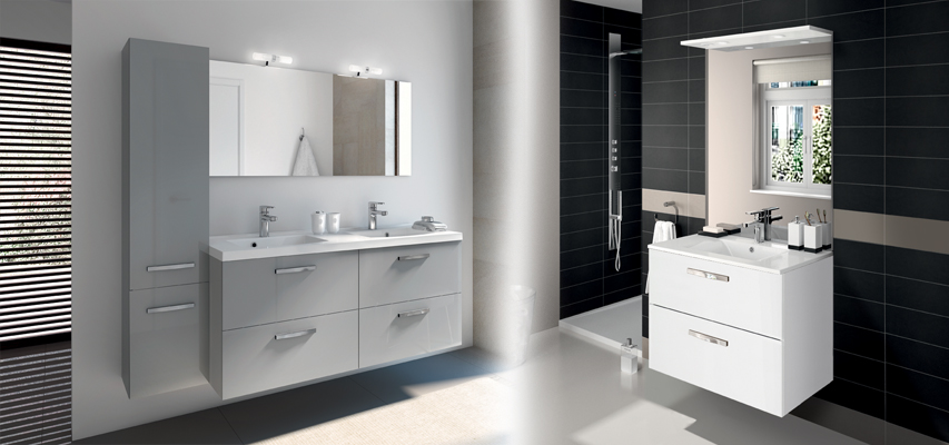 meuble de salle de bain prefixe code tiroirs a suspendre aquarine. Black Bedroom Furniture Sets. Home Design Ideas