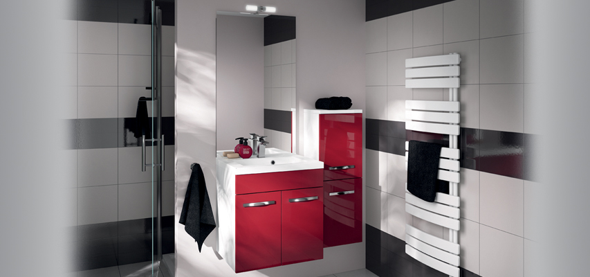 meuble de salle de bain prefixe portes aquarine. Black Bedroom Furniture Sets. Home Design Ideas