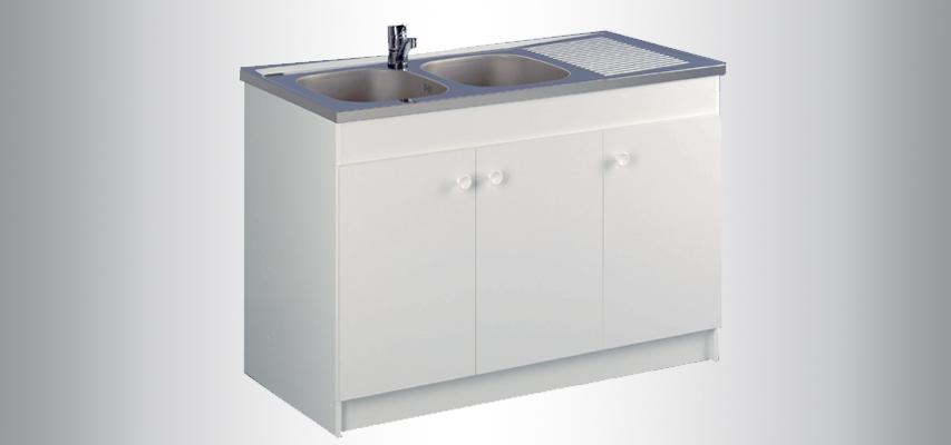 meuble de cuisine sous vier liberty aquarine. Black Bedroom Furniture Sets. Home Design Ideas