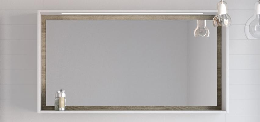 Univers Armoires De Toilette Miroirs Et Luminaires Elegant Et Pratique Le Miroir Newport Possede Un Cadre Avec Un Eclairage Leds Integre