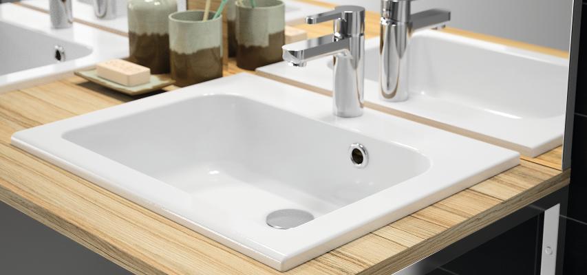 vasque a encastrer rectangulaire Vasque à encastrer en polybéton