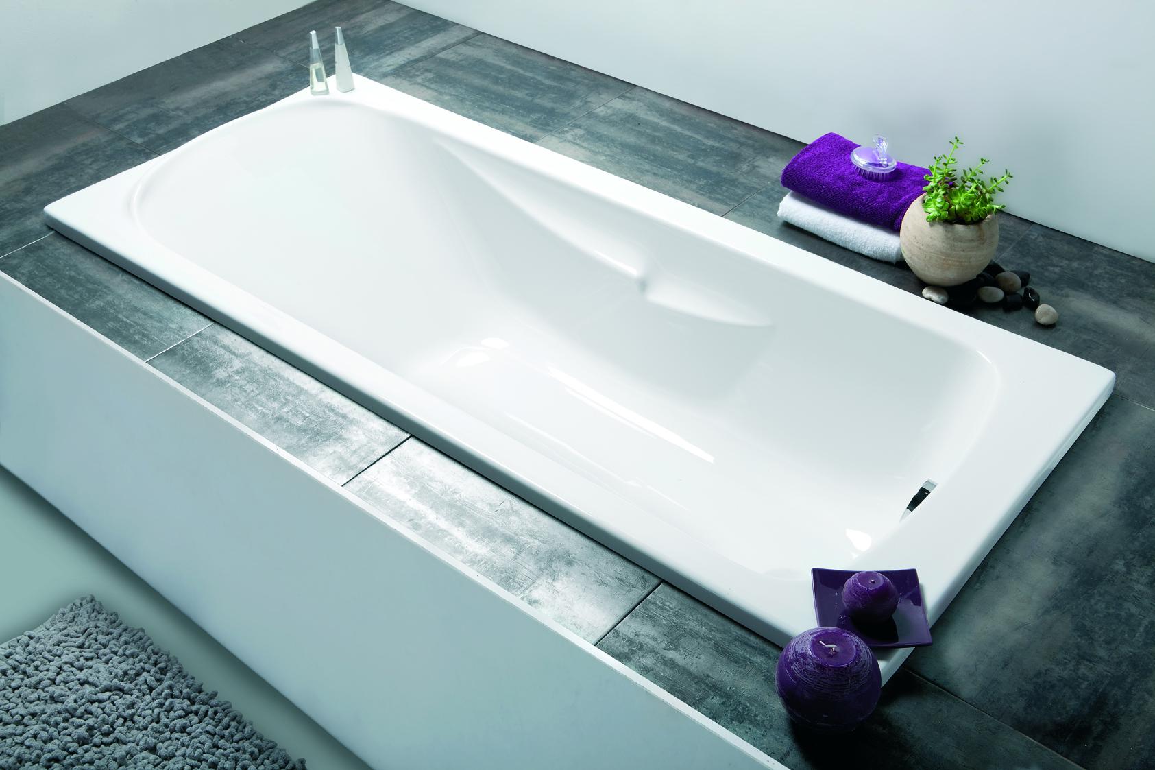 baignoire rectangulaire - foria 2 rectangulaire | aquarine