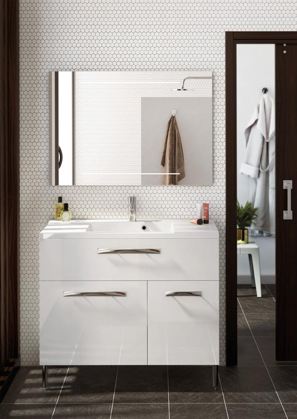 Meuble de salle de bain poser brooklyn a poser aquarine for Meuble sur toilette