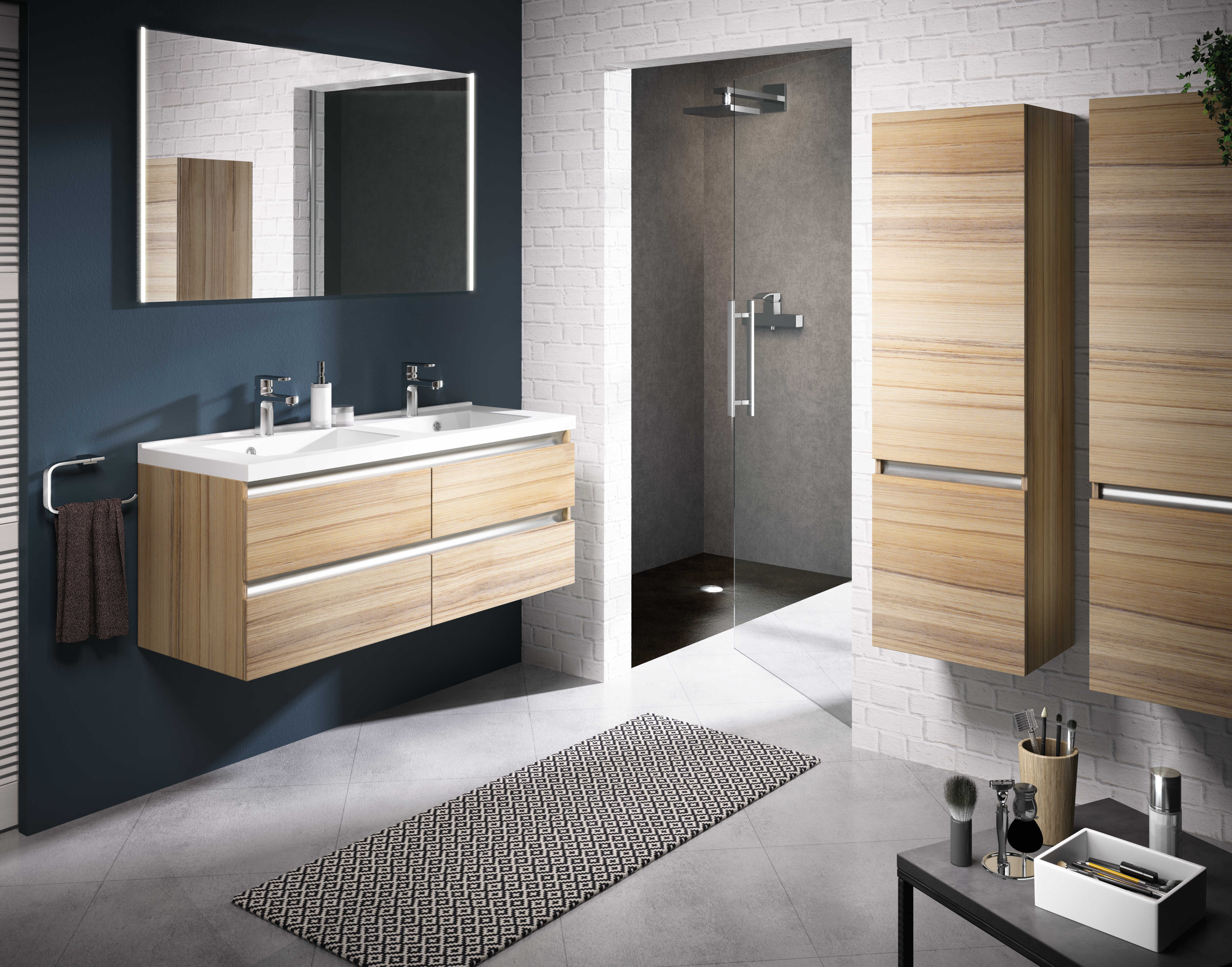meuble de salle de bain contrast aquarine. Black Bedroom Furniture Sets. Home Design Ideas