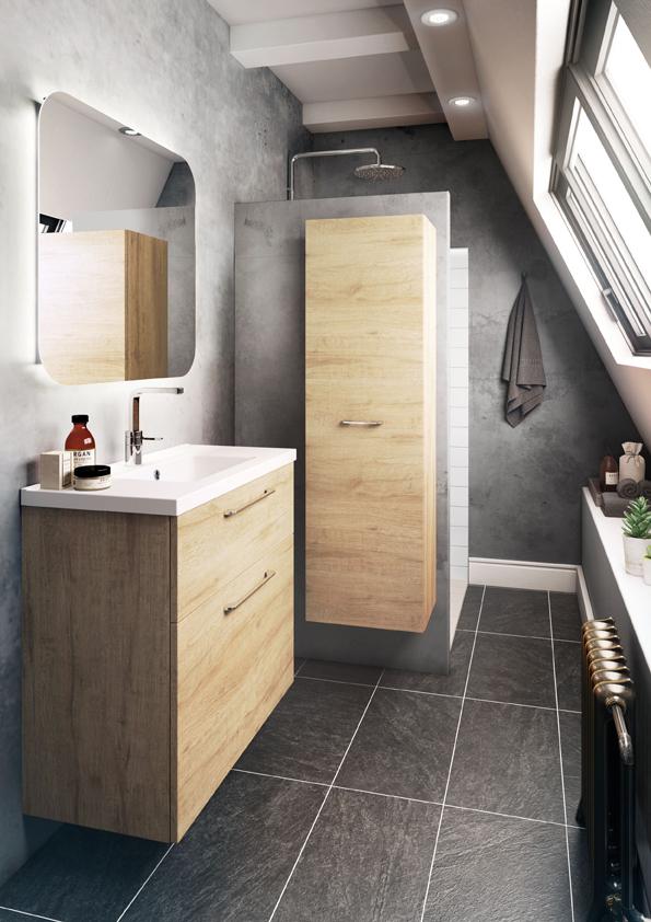 Meuble de salle de bain gain de place brooklyn fit line - Etendoir a linge pour salle de bain ...