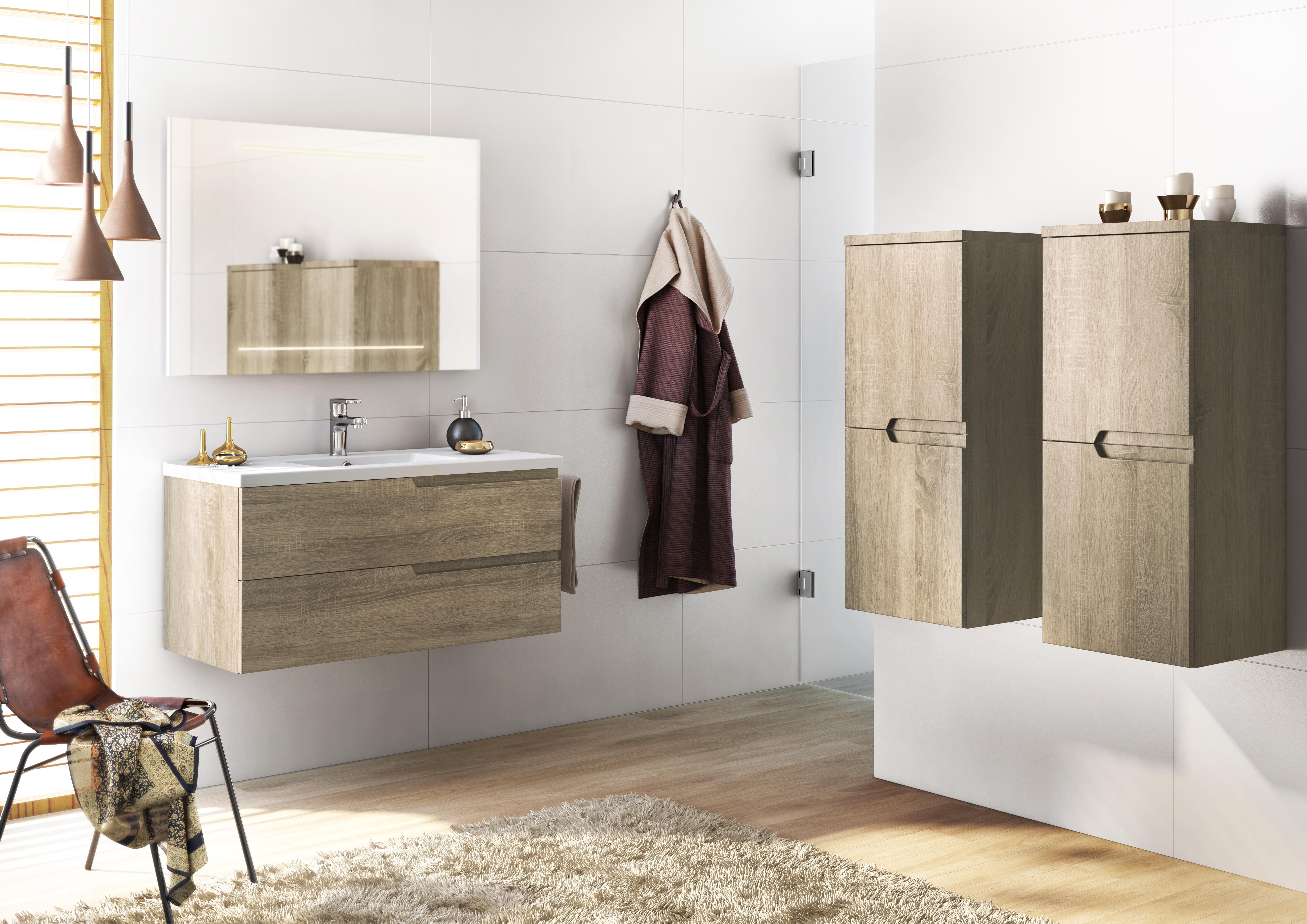 Meuble salle de bain blanc (laqué, brillant, mat) et couleurs ...