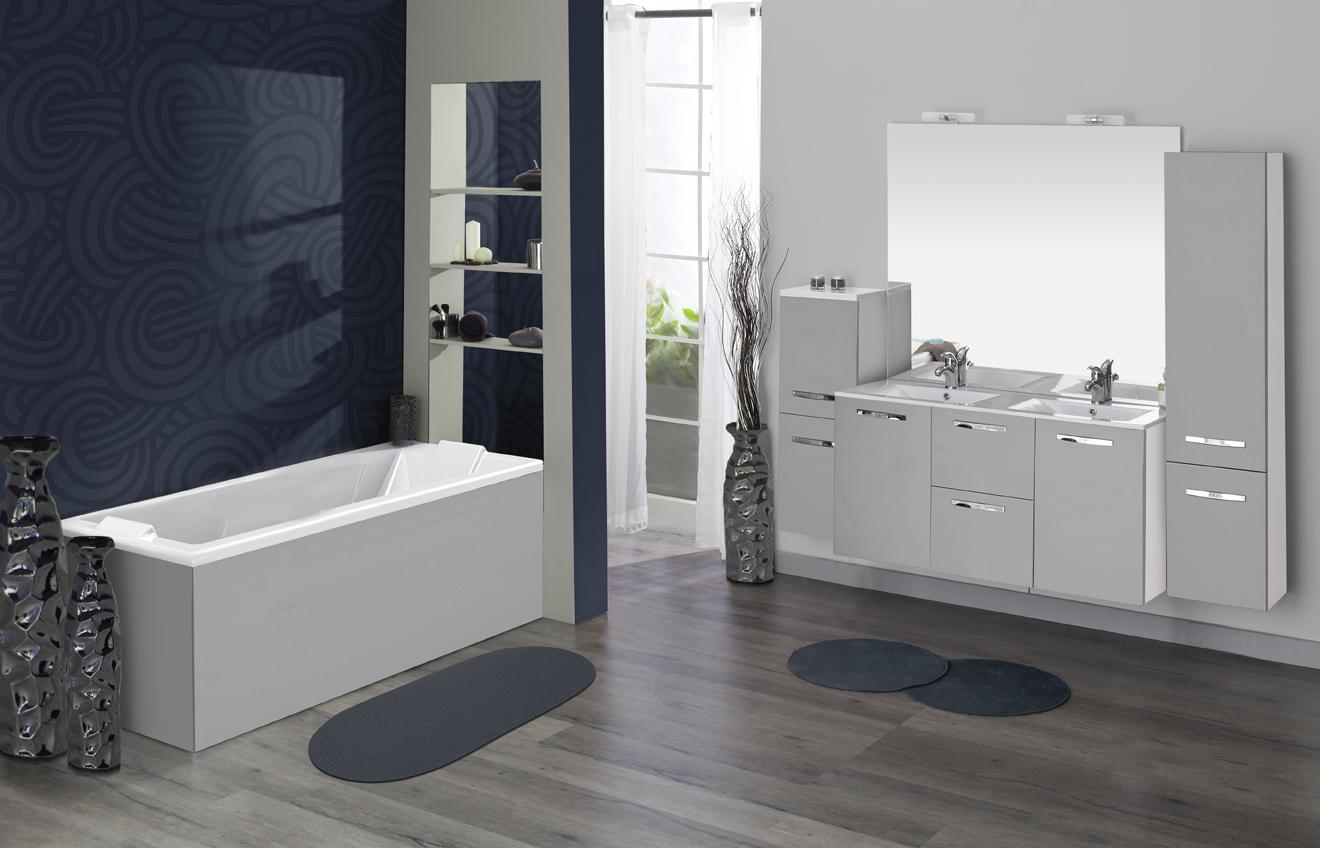 meuble salle de bain gris perle