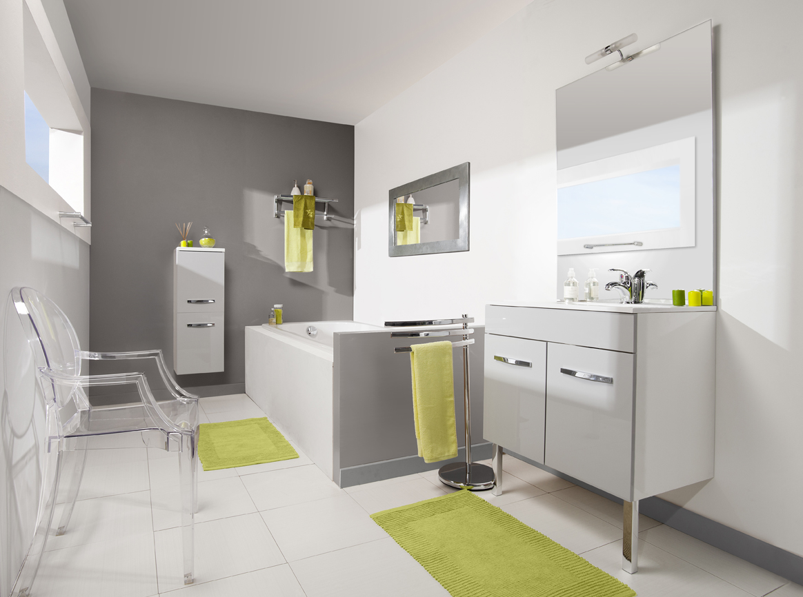 meuble de salle de bain prefixe portes aquarine. Black Bedroom Furniture Sets. Home Design Ideas