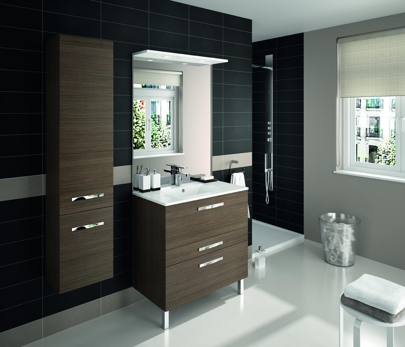 Meuble de salle de bain prefixe code tiroirs a poser for Meuble salle de bain aquarine