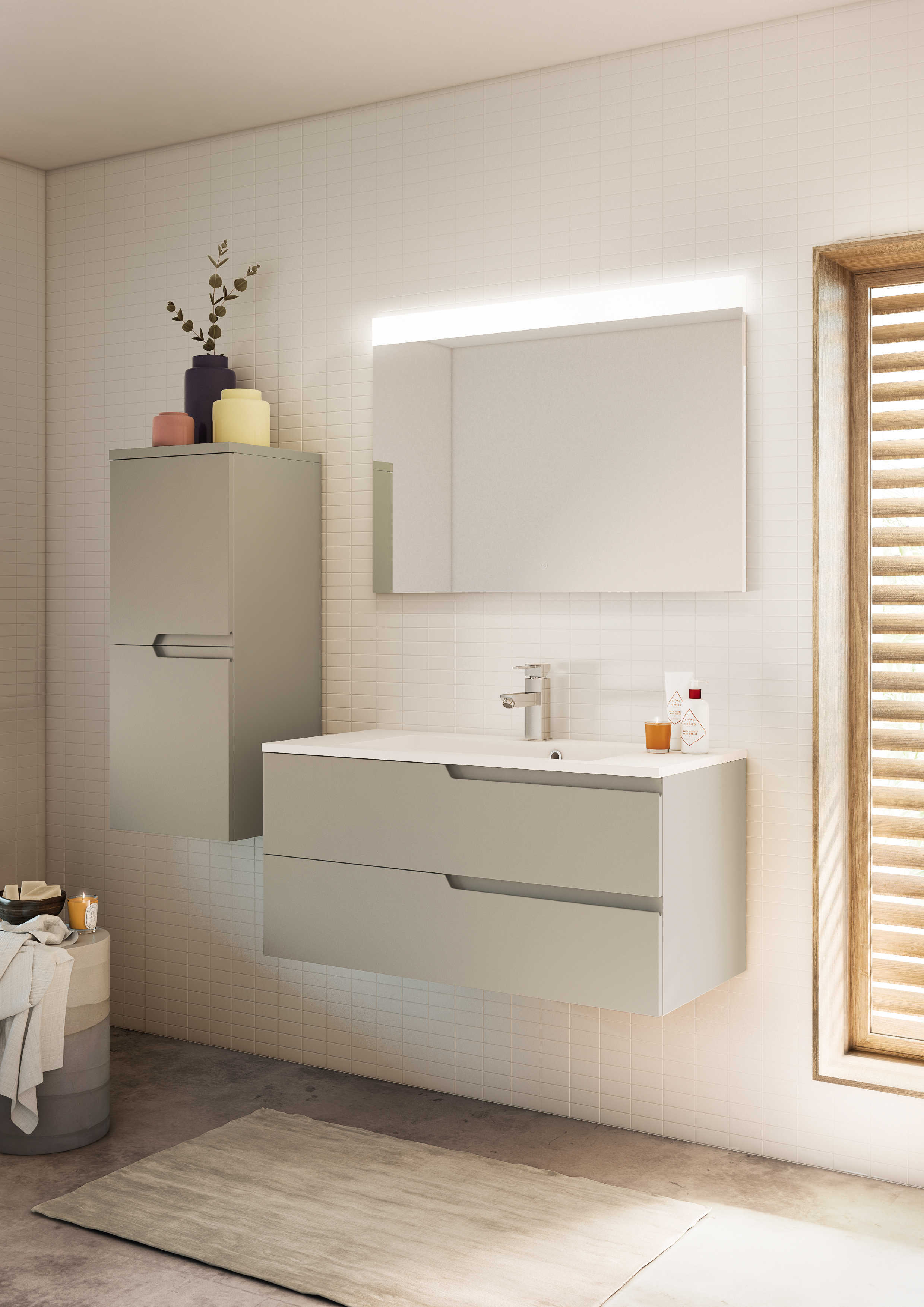Meuble Salle De Bain Couleur Or ~ meuble de salle de bain avec prise de main matrice aquarine