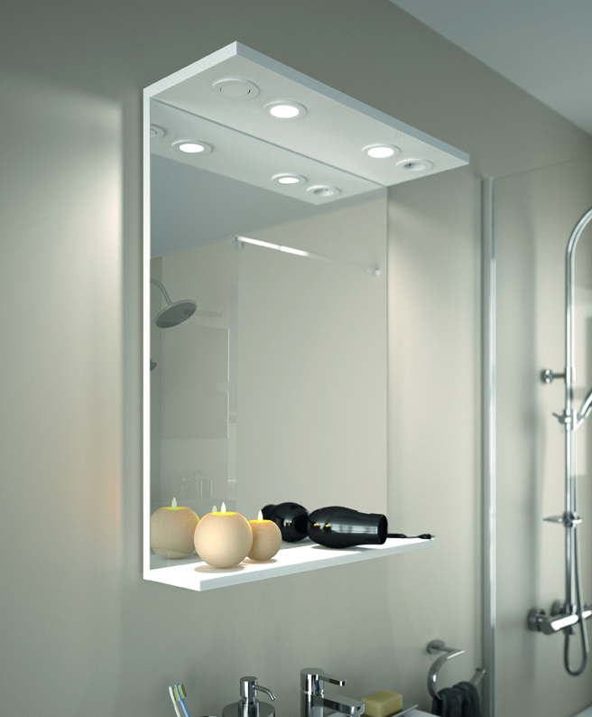 Lumibloc aquarine - Glace de salle de bain avec eclairage ...