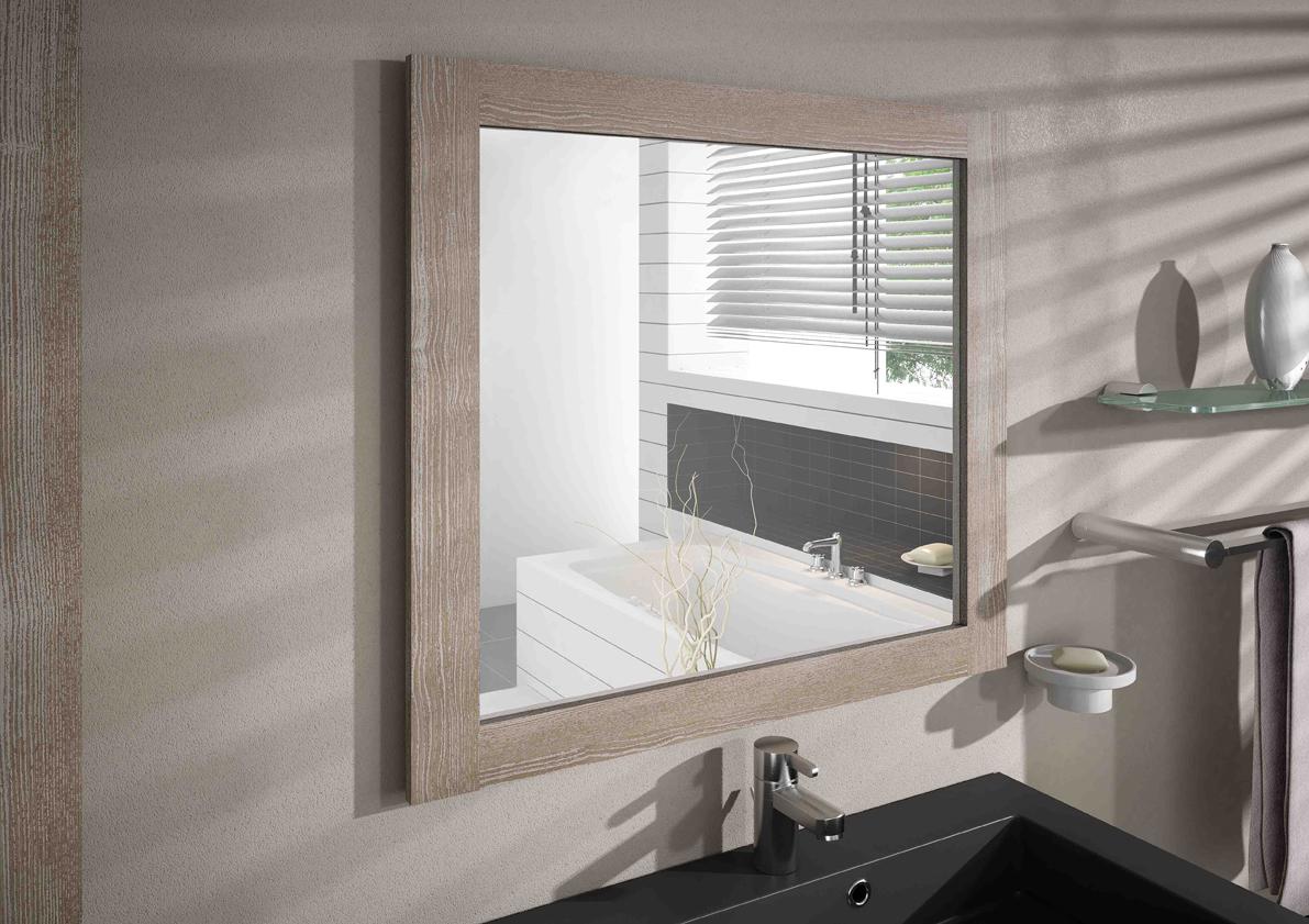 Miroir cadre miroir cadre coventry aquarine - Fixation miroir salle de bain ...