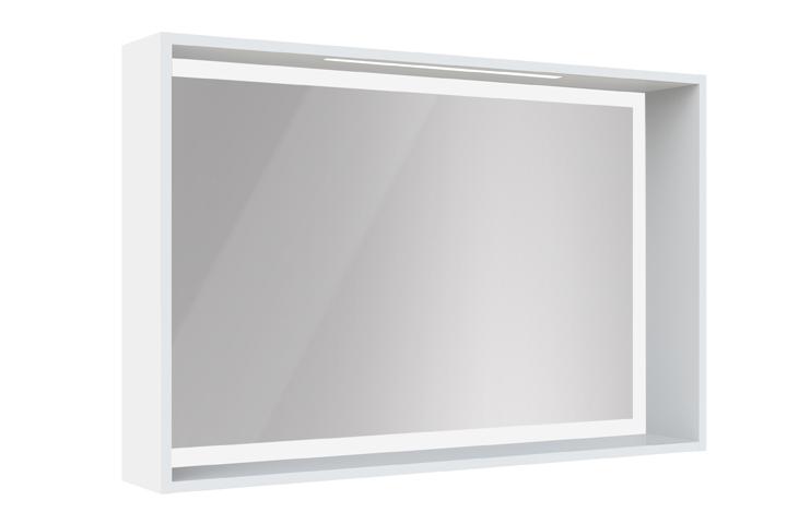 Miroir cadre clairant avec tag re miroir cadre for Miroir cadre blanc