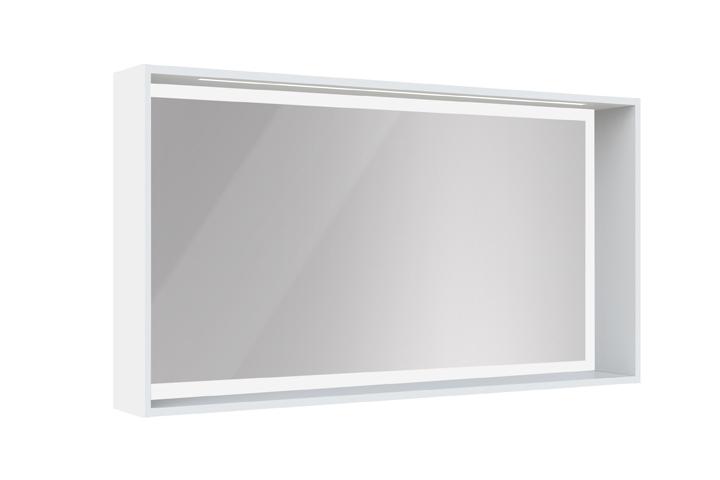 Meuble de salle de bain newport aquarine for Miroir 120 cm
