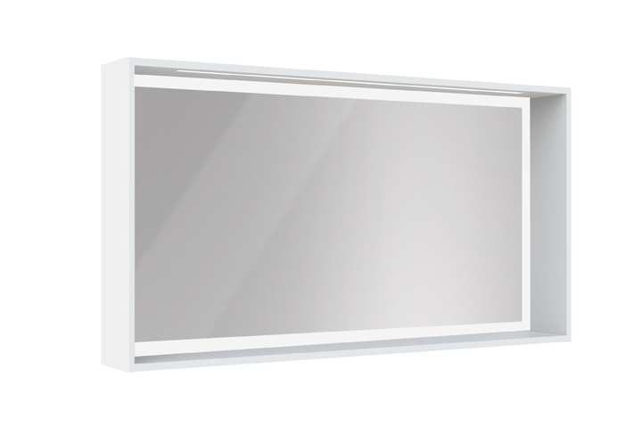 Meuble de salle de bain newport aquarine for Miroir cadre blanc