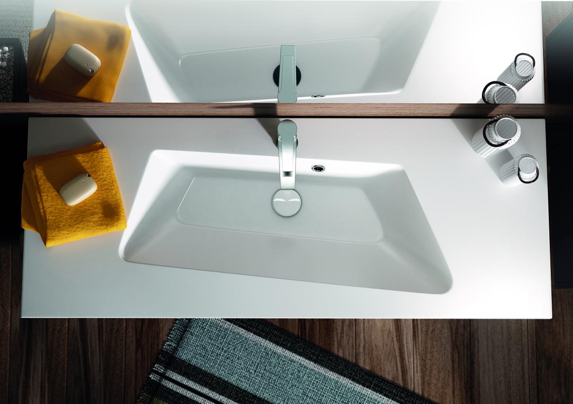 Meuble de salle de bain mineral aquarine - Plan sous vasque salle de bain ...