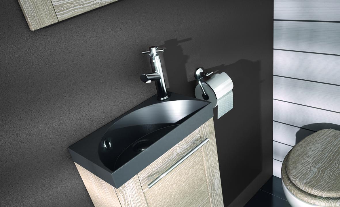 plan de toilette en solidsurface pour lave mains hello aquarine. Black Bedroom Furniture Sets. Home Design Ideas