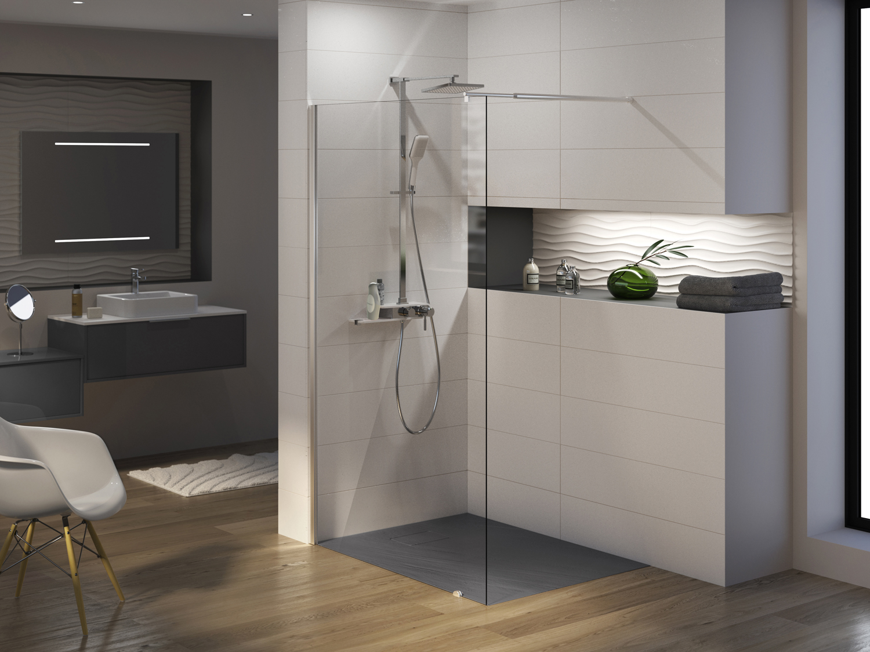 receveur rectangle rockstone rectangle aquarine. Black Bedroom Furniture Sets. Home Design Ideas