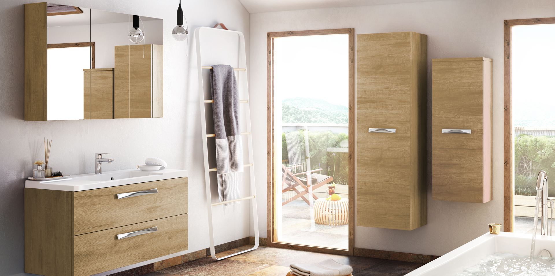 Photo salle de bain design good dco salle de bain design for Brossette salle de bain