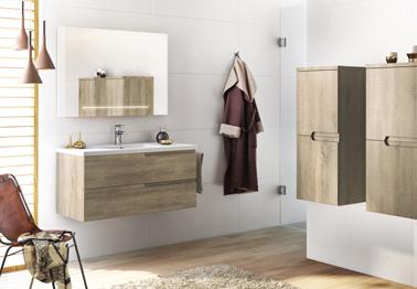 Meuble salle de bain moderne mobilier armoires etc for Mosaic salle de bain