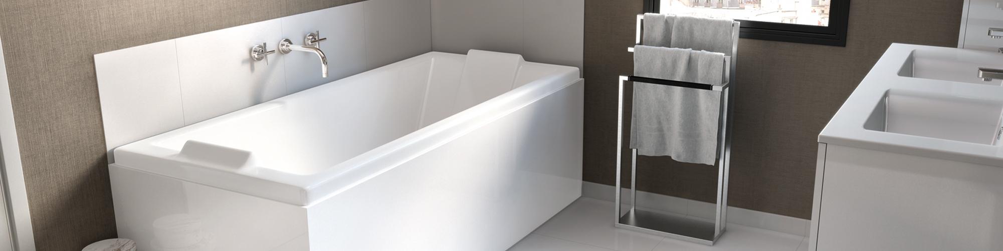 Baignoire et tablier de bain