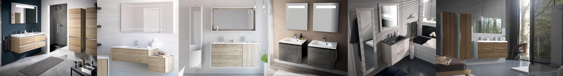 Meuble salle de bain bois mobilier en bois effet b ton cir for Mobilier salle de bain bois