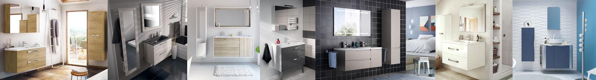 Meuble salle de bain complet mobilier armoires etc for Meuble salle de bain complet
