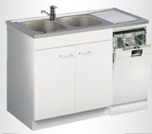 Meuble de cuisine sous vier leader aquarine - Meuble cuisine lave vaisselle ...
