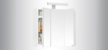 Armoire de toilette triptyque avec fileurs clairants - Castorama armoire de toilette ...