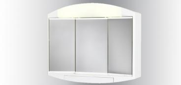 Armoire de toilette lumineuse salle de bain et wc for Miroir de courant mos