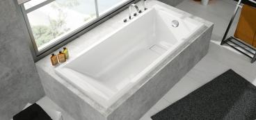 baignoire rectangulaire bain douche droite rectangle. Black Bedroom Furniture Sets. Home Design Ideas