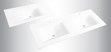 plans de toilette en cramique aux lignes pures disponible en 60 70 80 90 100 105 et 120 cm simple ou double vasque dcouvrir - 100 Cm Plan Vasque