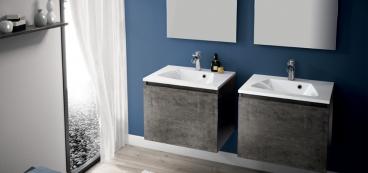 Meuble salle de bain 100 cm 105 cm 120 cm - Configuration salle de bain ...