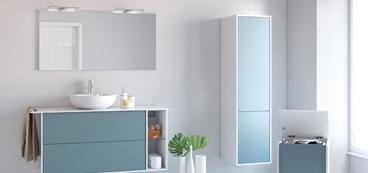 Meuble salle de bain 140 cm contemporain