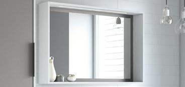 Miroir salle de bain lumineux avec leds ou sans clairage for Miroir cadre blanc