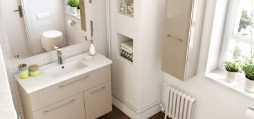 petit meuble salle de bain meuble petite sdb. Black Bedroom Furniture Sets. Home Design Ideas