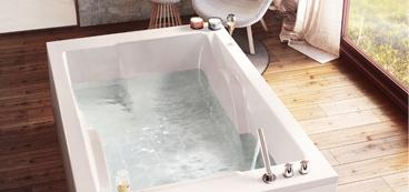 Baignoire rectangulaire bain douche droite rectangle - Baignoire double place ...