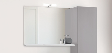 MIROIR DECOTAB · Miroir Déco Avec Tablette Pour Meuble De Salle De Bain.