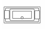 Préfixe rectangle double dos