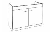 Sous-éviers meuble LIBERTY 2 portes 100 cm