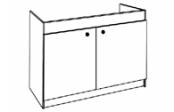 Sous-éviers meuble SESAME 2 portes 100 cm