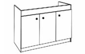 Sous-éviers meuble SESAME 3 portes 140 cm