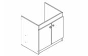 Sous-éviers meuble EXEL 19H 2 portes 90 cm
