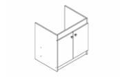 Sous-éviers meuble EXEL 19H 2 portes 100 cm
