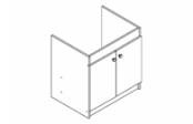Sous-éviers meuble EXEL 19H 2 portes 120 cm