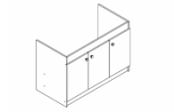 Sous-éviers meuble EXEL 19H 3 portes 120 cm